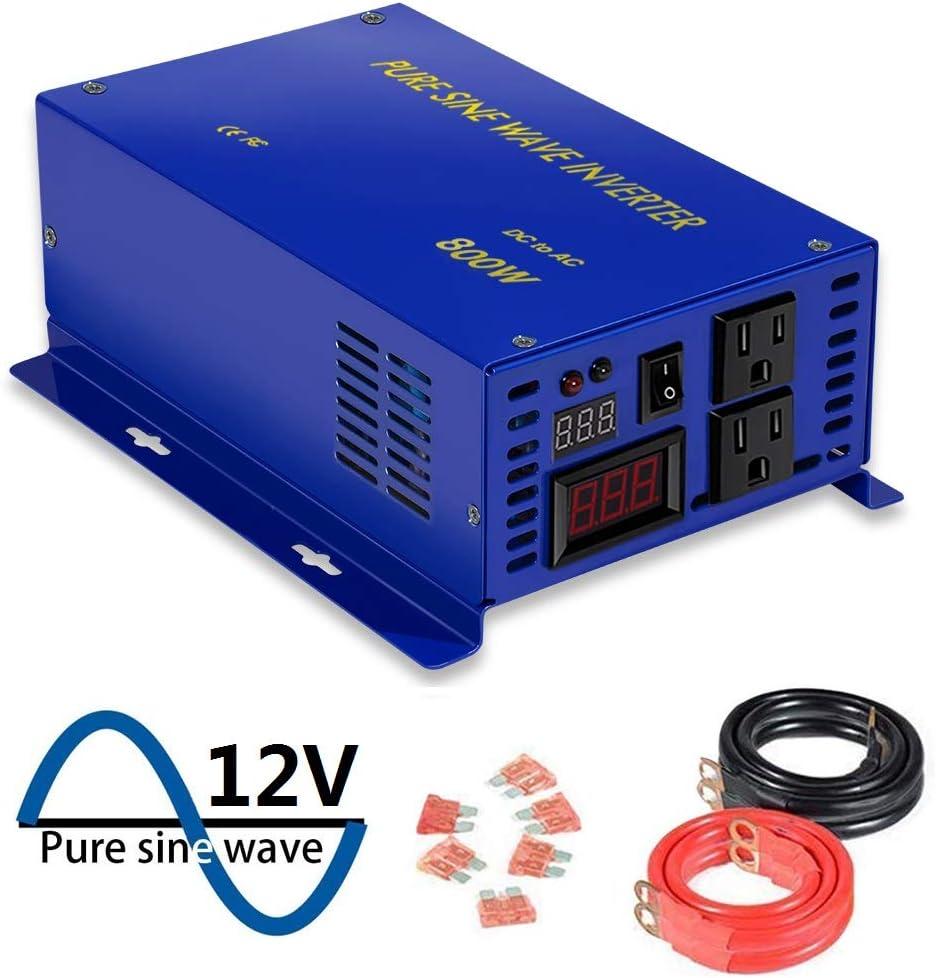 XYZ INVT Full Power LED Display 800w 12v to 120v Pure Sine Wave Off Grid Power Inverter Converter Generator. 800W12V