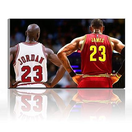 4beb83f817fc9 Amazon.com: Karen Max Lebron James Michael Jordan Inscribed Wings ...