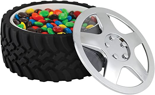 Wrenchware Car Wheel and Tyre Eating Bowl with lid