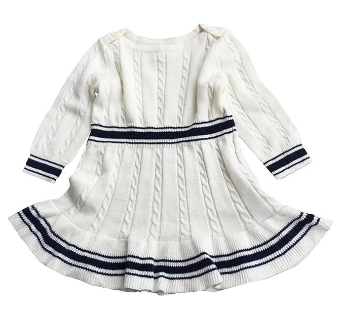 a0462513c2ab eKooBee Newborn Infant Baby Girls Sweater Dress Long Sleeve  Amazon ...