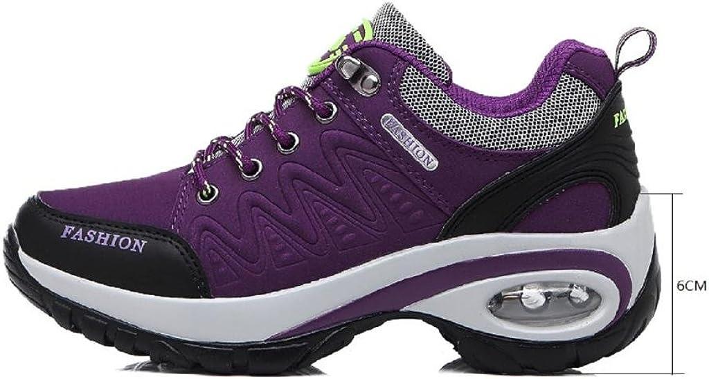 T-Gold Basket Femme Air Chaussure de course Sport Gym Fitness Multisports Outdoor Sneakers, Talonnettes Hauteur-Augmentation 6CM Violet