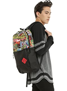 Marvel Comic Collage Flat Front Backpack