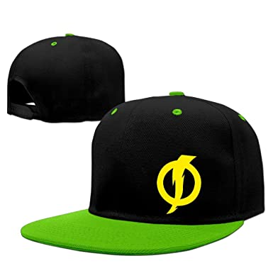 01d00168555 PCY Adult Flat Billed Static Yellow Logo Hip Hop Hats Caps Red ...