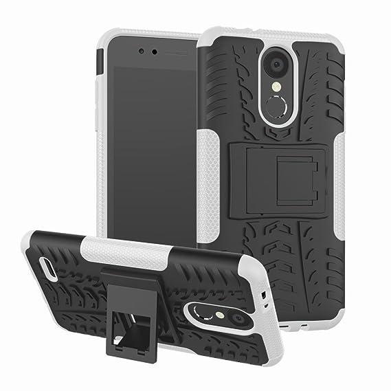 LG Aristo 2 Case, LG Tribute Dynasty Case, LG K8 2018 Case, Moment Dextrad  [Built-in Kickstand][Non-slip Design] Dual Layer Hybrid Full-body [Shock
