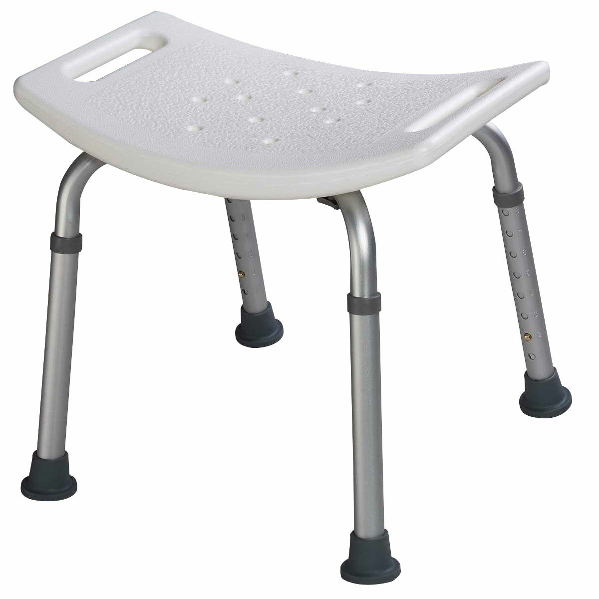 Shower Chair, GentleShower 8 Height Adjustable Medical Bathroom Bath Bench Tub Seat Stool, Tool-Free Assembly
