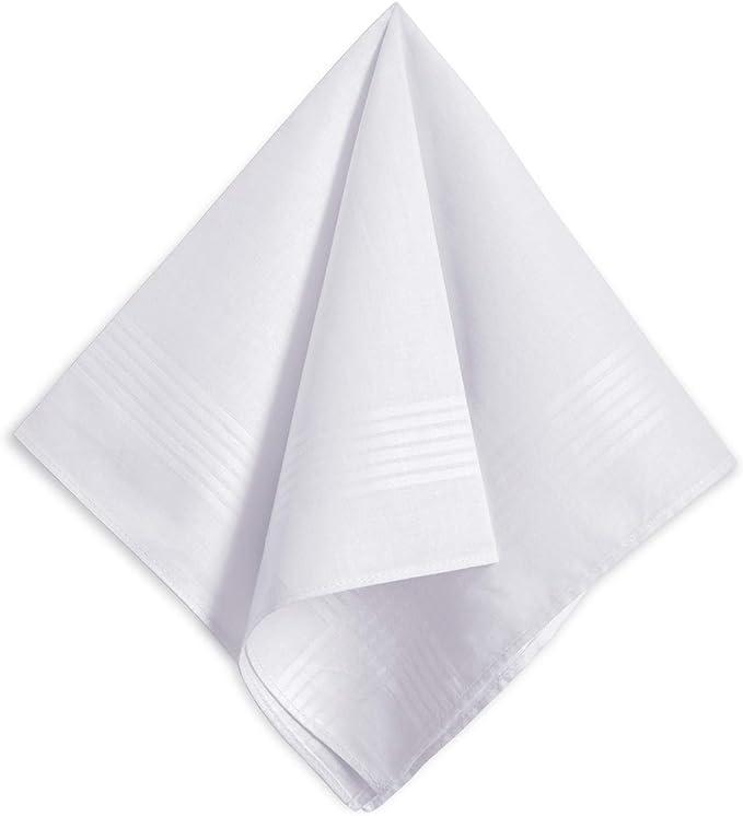 Pañuelos blancos para hombre, 100% algodón suave, pack de 6 ...