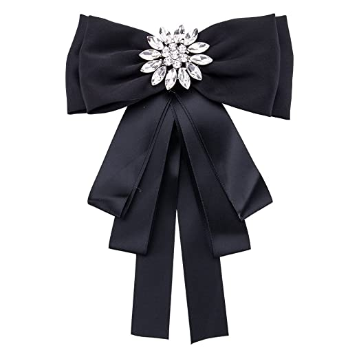 fd706e3e3e6 Image Unavailable. Image not available for. Color  Sunvy Fashion Brooches  Pin Bow Tie Crystal Dangle Formal Wedding ...