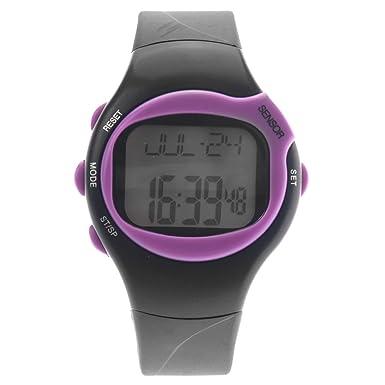 VORCOOL 0441 Unisex reloj digital con pulsómetro y contador de calorías - morado