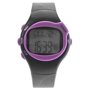 Pixnor 0441 impermeable Unisex pulso pulso Monitor calorías contador deportivo reloj Digital (púrpura)