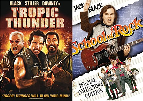 Tropic Thunder + School of Rock Jack Black Collection Comedy Set 2 Movies (School Of Rock Jack Black)