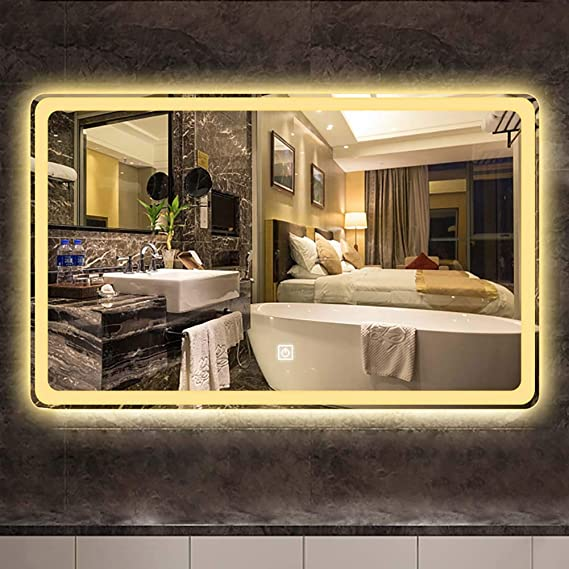 Espejo Pantalla táctil para baño LED Espejo de pared - Mejore el ...