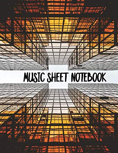 Music Sheets Notebook: Orange Skyscraper Blank Sheet Music Templates for Songwriters, Musicians, and Theory Students in Large - Mariachi Trumpet Music