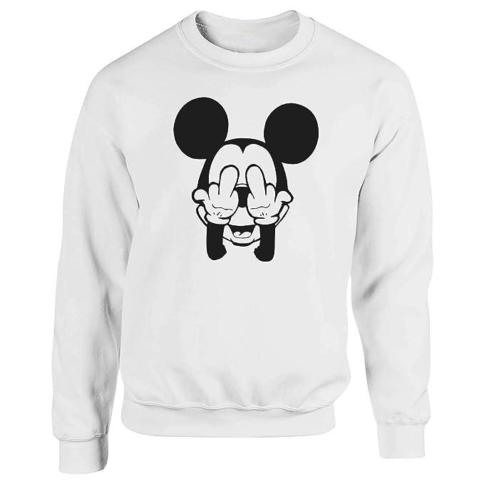 Mickey Mouse Swag Trippy Disney Dope Fuck Blanca Sudadera con Capucha Unisex Small: Amazon.es: Ropa y accesorios