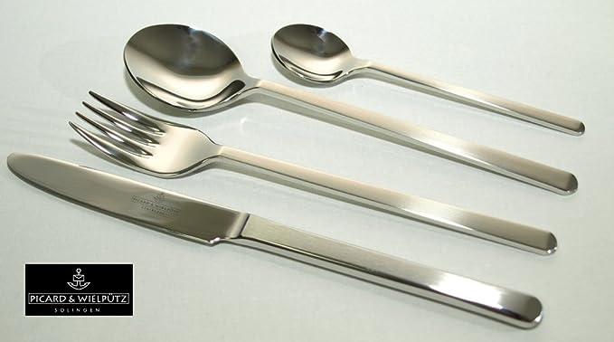 Stainless Steel Multi Color Solid Handle Picard /& Wielputz Picard /& Wielputz/_4005481174635 6174 Tools mattiert 24 Piece Dinner Set Giftbox