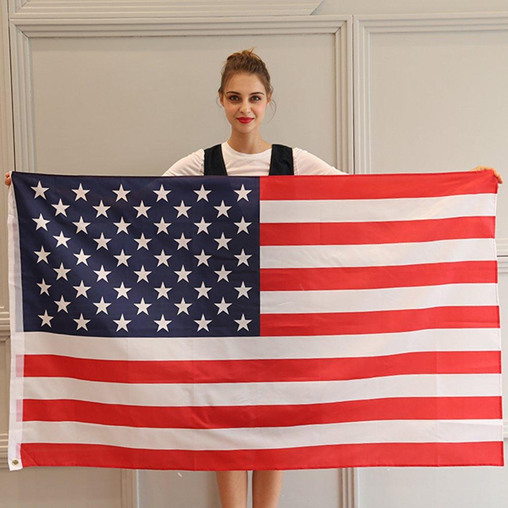 JUNZENIA American Flag 3x5 Ft USA Printed Stars and Stripes Banner