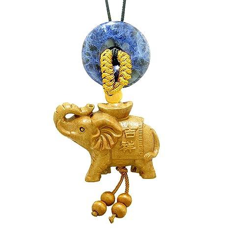 Amazon.com: Buena suerte elefante dinero Ingot colgante para ...