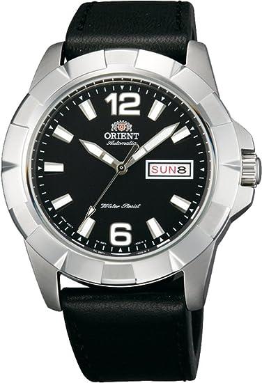 Reloj automático para hombre de Orient, «Sporty», con correa de piel, indicador de día y fecha, FEM7L006B9: Amazon.es: Relojes