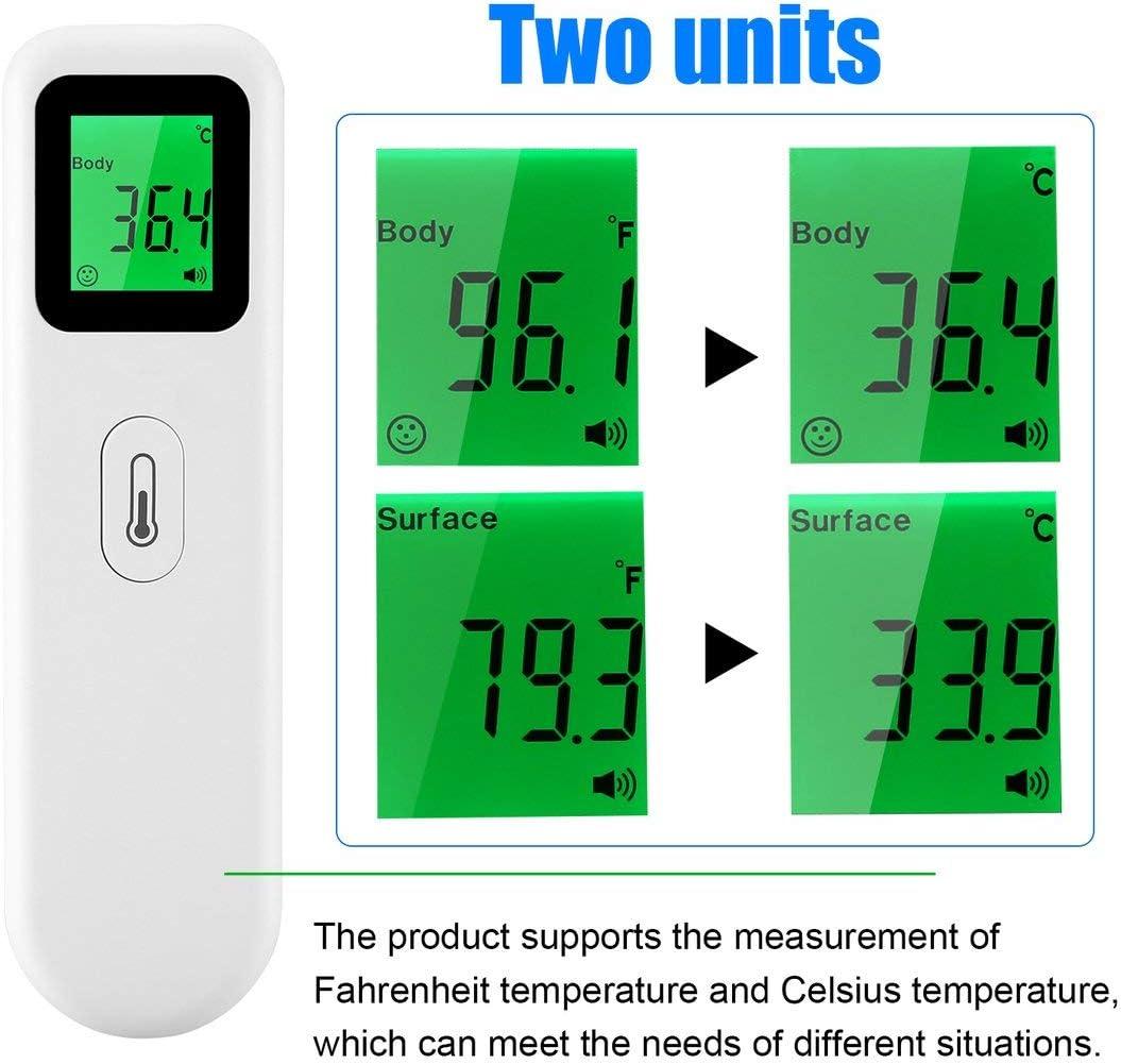 Thermom/ètre infrarouge sans contact Blanc Thermom/ètre infrarouge sans contact Thermom/ètre infrarouge portable Mesure de haute pr/écision la temp/érature corporelle