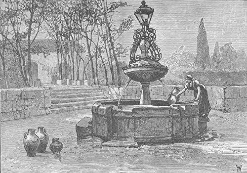 España. Pluma Estilográfica en Salamanca Old Vintage envejecido – 1894 – lienzo Prints de España: Amazon.es: Hogar