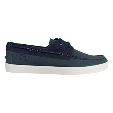ace03e1ab9ad17 Lacoste Men Boat Shoes 31CAM0117 Keellson 003 Navy Size 46  Amazon ...