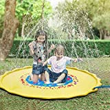 YOUSMART Splash Play Mat, 68in-Diameter Perfect Inflatable Outdoor Sprinkler Pad Summer Fun Backyard Play for Infants Toddlers and Kids