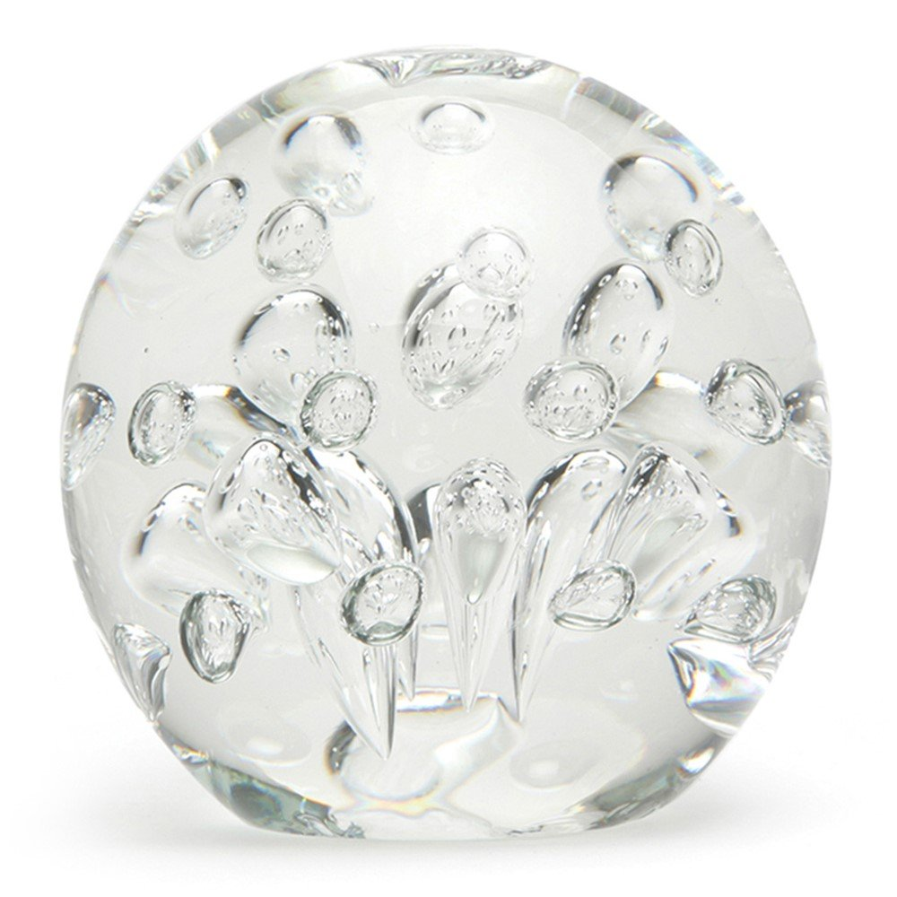 Glass Handmade Large Paperweight - Spa Bubbles - Clear - 4'' tall. One-of-a-kind. FREE SHIPPING to the lower 48 when you spend over $35.00