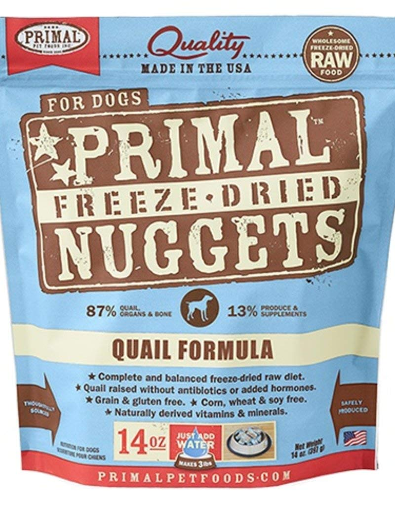 Primal Raw Freeze Dried Canine Quail Formula Dog Food