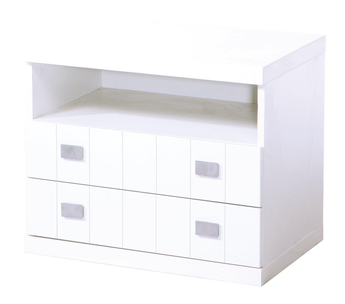 roba Baumann Table de Chevet Multistar Blanc 50 x 60 x 40 cm 41426