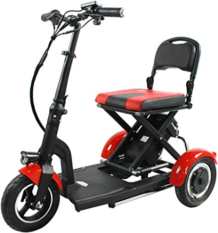 Amazon.com : Mini Folding Electric Tricycle, Adult Electric Bike ...
