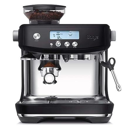 SAGE SES878BTR the Barista Pro, Cafetera espresso, Cappuccinatore, 15 Bar, negro