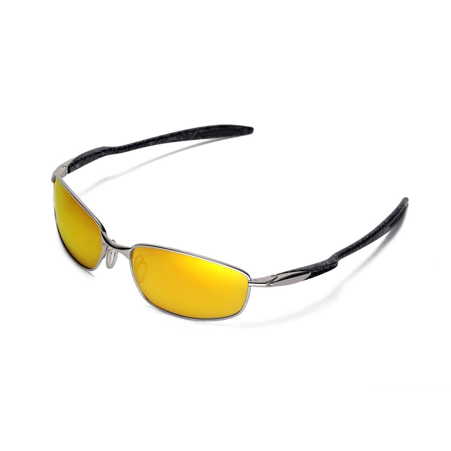 34ba3af60f9 Amazon.com   Walleva Replacement Lenses for Oakley Blender Sunglasses - 5  Options Available (24K Gold Mirror Coated - Polarized)   Sports   Outdoors