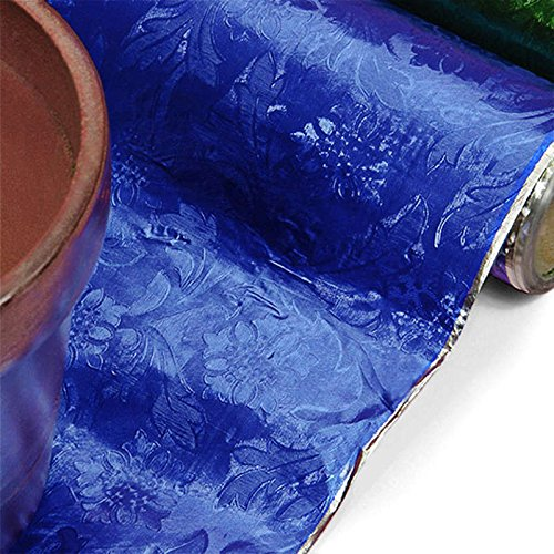 Royal Blue Embossed Floral Foils, 20 X 10 Yards by Paper Mart