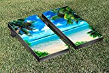 Tropical Beach Cornhole Game Set Version 2