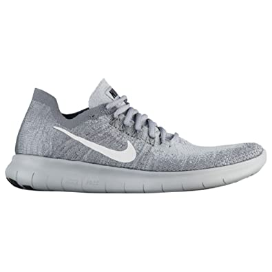 NIKE Women's Free Rn Flyknit 2017 Running Shoes (11, Wolf GreyWhite Anthracite Cool Grey)