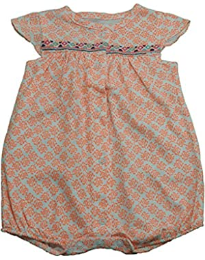Baby & Toddler Girls 1-Pc Rompers Orange & White