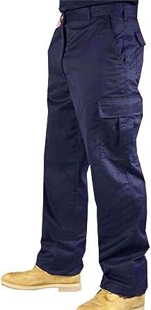Amazon Com Real Life Fashion Ltd Bolsillos Laterales De Combate Pantalones Negros Para Hombre Elasticos Lisos Para Trabajo Clothing