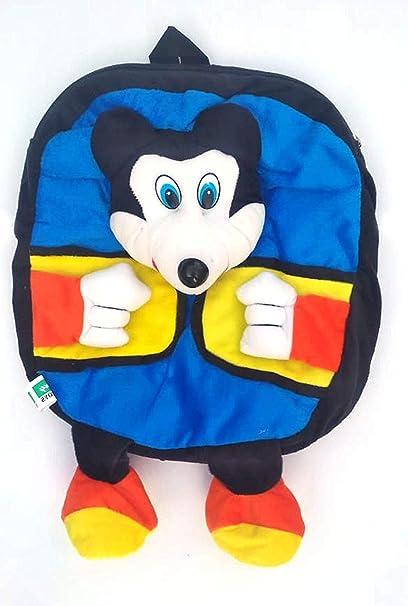 Toysale Kids School Bag Soft Toy Plush Backpack Cartoon Bag Childrens Gifts Boy/Girl Baby/ Decor School Bag for Kids (Blue)