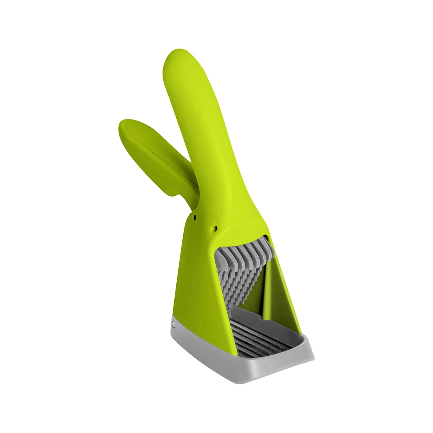 Boon Slicer Hand-Held Fruit and Vegetable Slicer, Green/Gray B390