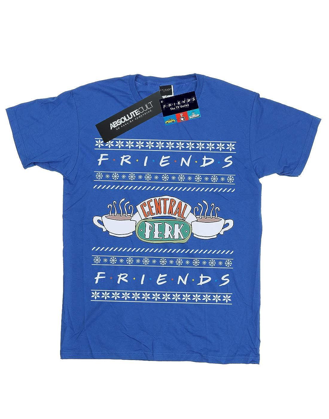 Absolute Cult Friends Girls Fair Isle Central Perk T-Shirt