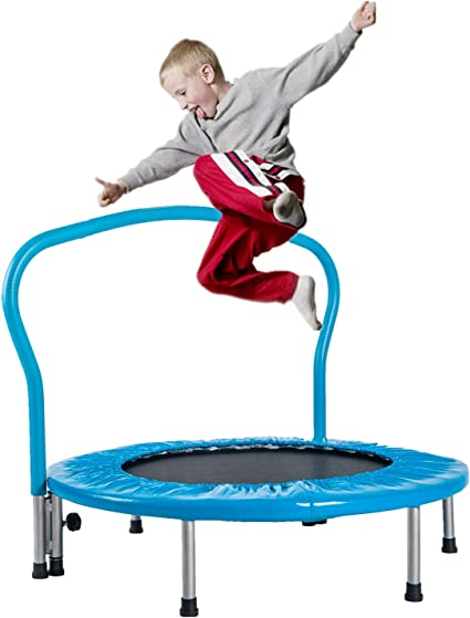 "High Strength Srpings 36/"" Mini Rebounder Trampoline for Kids w// Handle Bar"