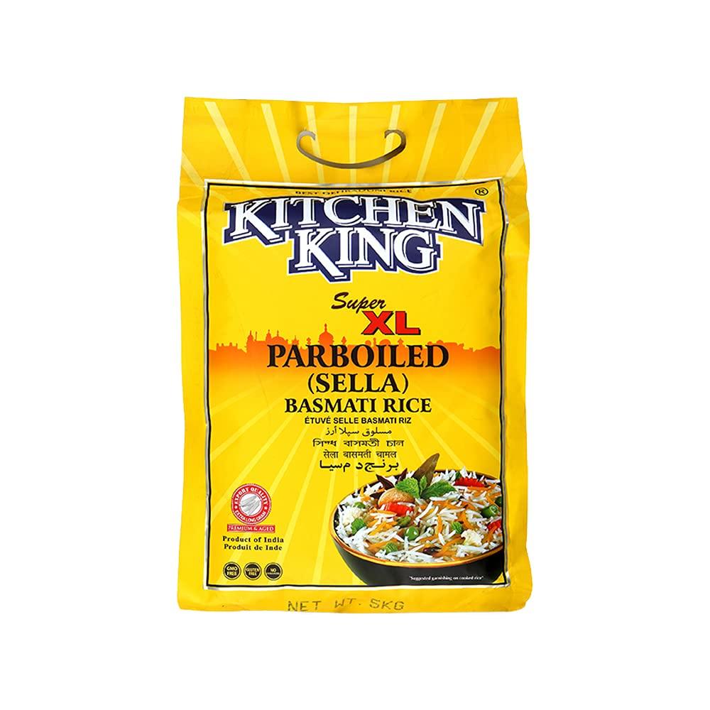 Kitchen King Super Xl Parboiled Sella Basmati Rice 5 Kg Buy Online In Kuwait At Desertcart Com Kw Productid 226184431
