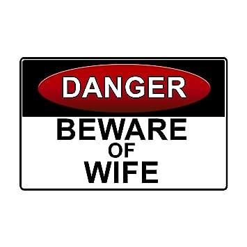 Danger Beware Of Wife Hard Hat Helmet Sticker Decal Serpent Set of 3 Stickers