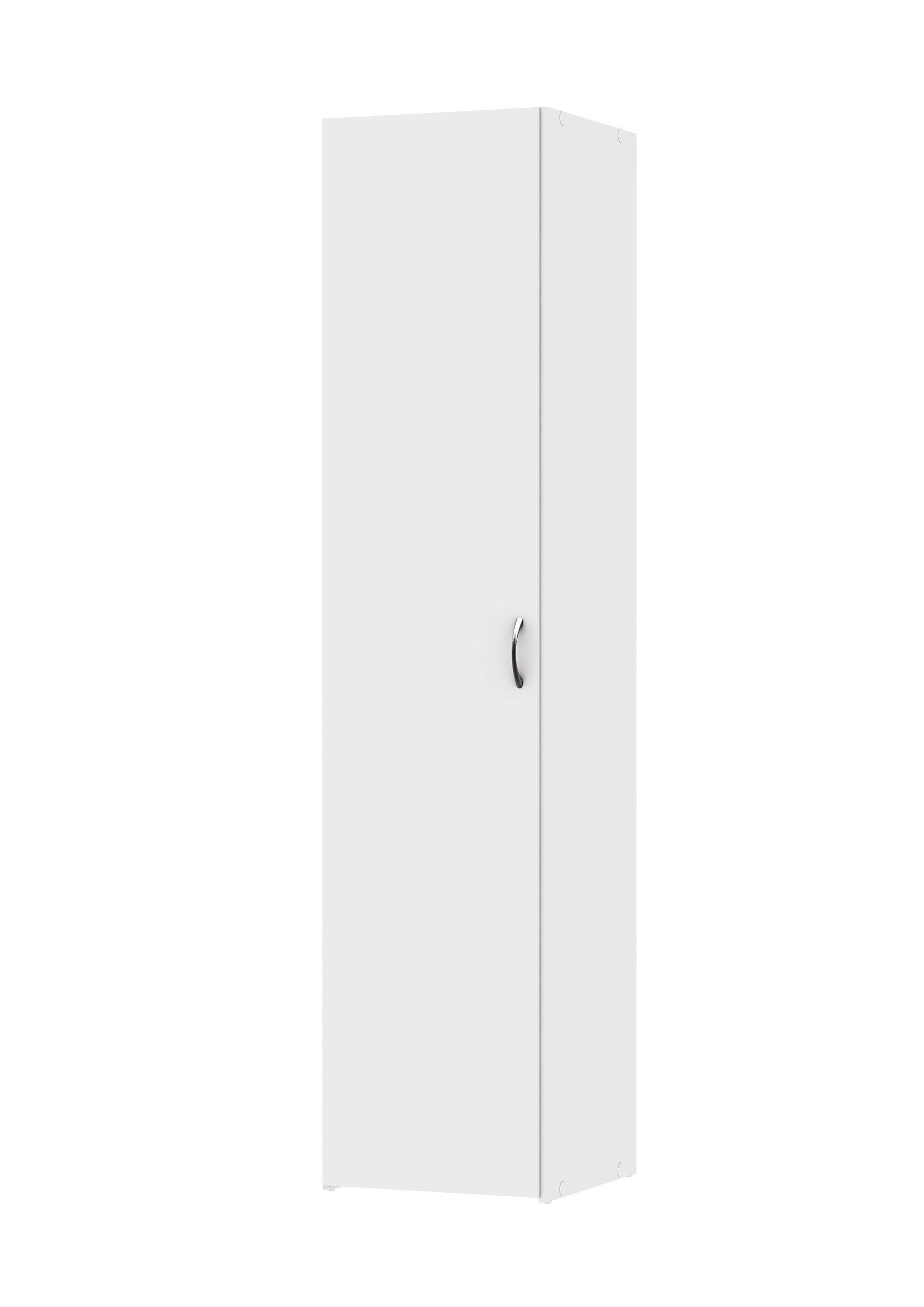 Tvilum 704364949 Space Wardrobe with with 1 Door, White