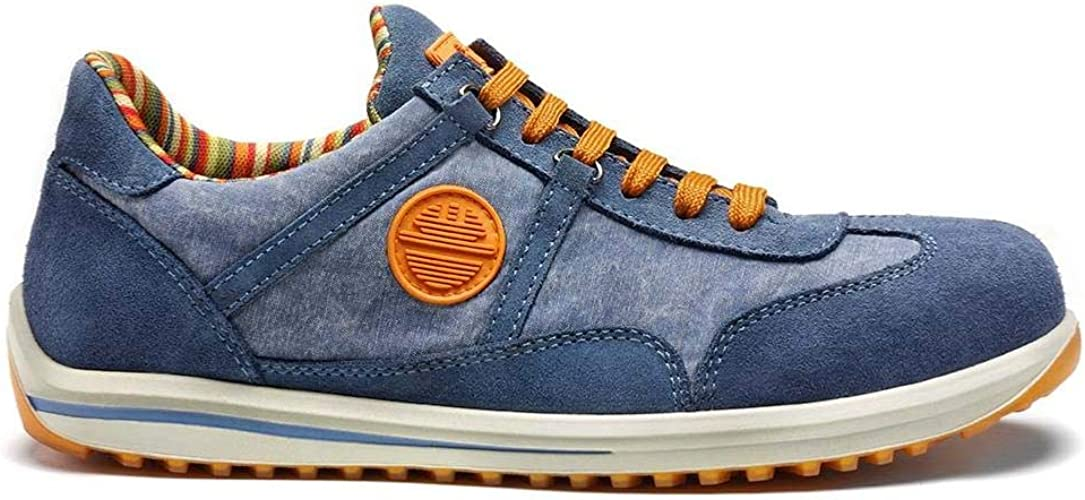 SCARPA ANTINFORTUNISTICA DIKE SERIE RAVING MOD. RACY S1P SRC PELLE COL. JEANS 100% MADE IN ITALY ART. 26016.804