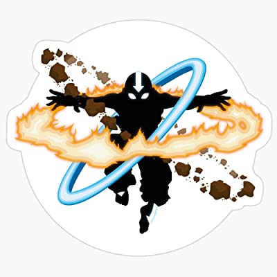BeliNZStore Aang Going into uber Avatar State Stickers (3 Pcs/Pack): Kitchen & Dining
