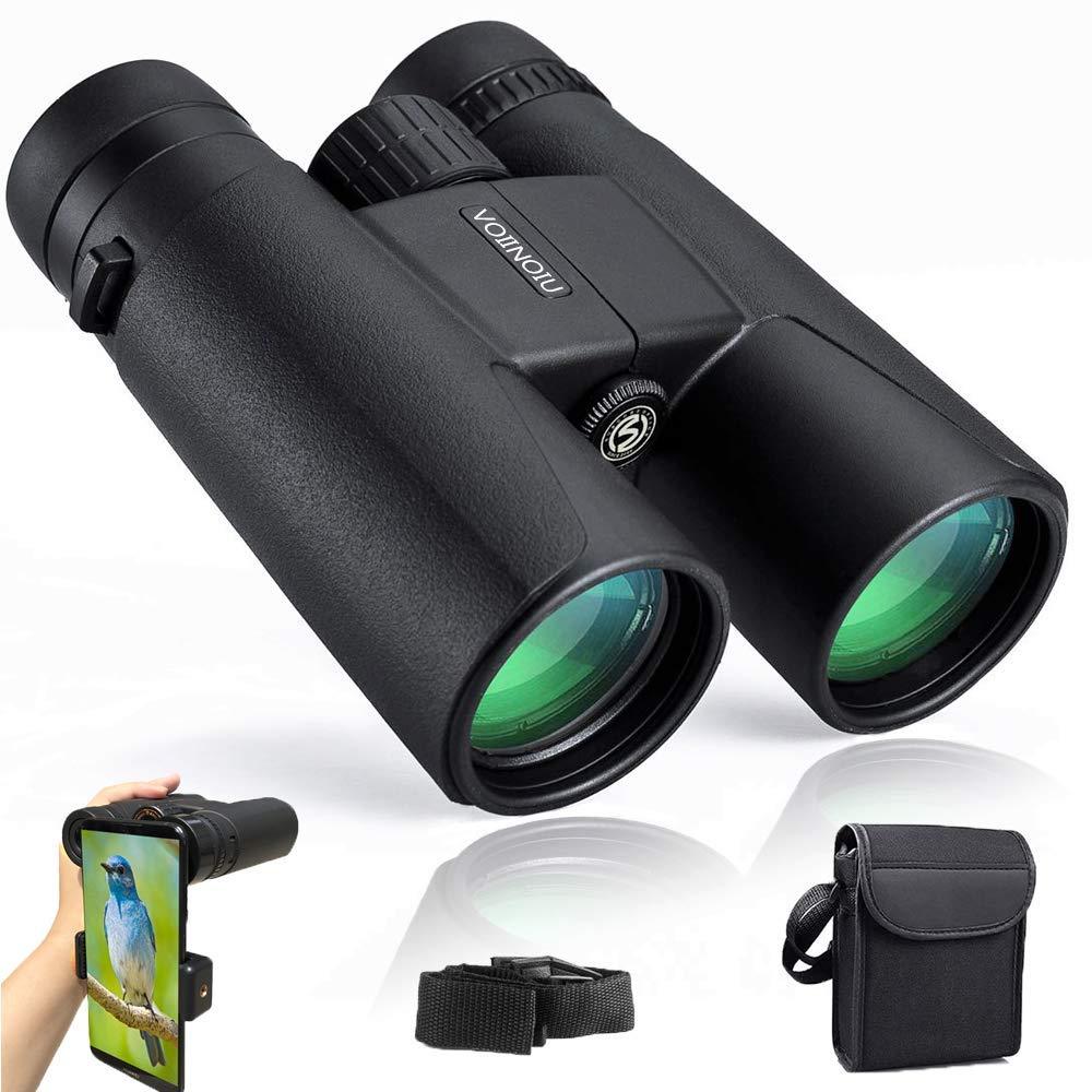 Binoculars for Adults Compact,12x42 HD BAK4 Roof Waterproof Binocular with Weak Light Night Vision,Folding Binoculars for Bird Watching,Concerts,Camping,Hunting,Hiking,Travel,Outdoor Sports