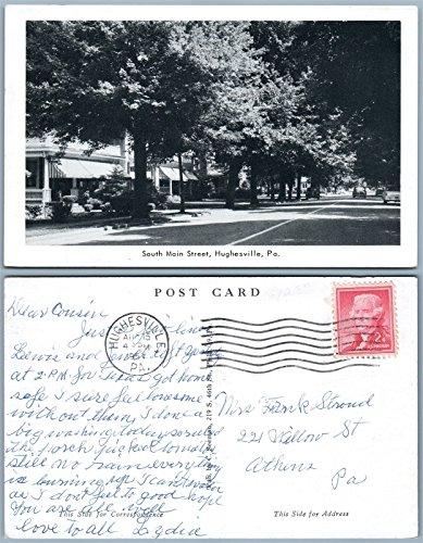 HUGHESVILLE PA SOUTH MAIN STREET 1957 VINTAGE (Hughesville Pa)