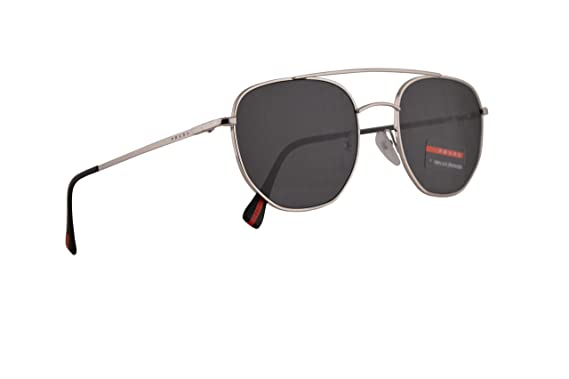 e7c5574f9136 Image Unavailable. Image not available for. Color  Prada PS56SS Sunglasses  Silver ...
