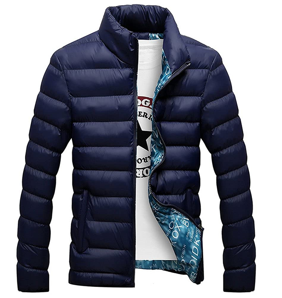 Brinny Homme Manteau Hiver Blouson matelasse/é Chaud Col Montant Veste Rembourr/é Parka Casual Jacket 7 Couleur au Choix Taille M//L//XL//2XL//3XL//4XL//5XL