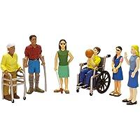 Miniland- Estuche de Figuras Discapacitados, 12.5 cm (154179)